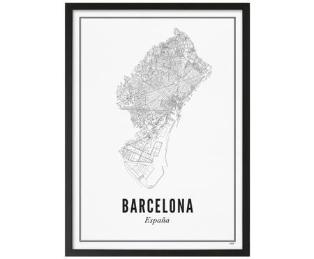 Gerahmter Digitaldruck Barcelona