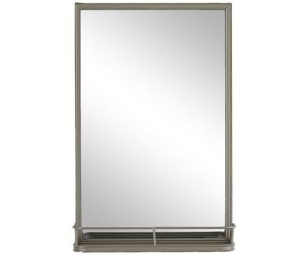 Wandspiegel Tray mit grauem Rahmen und Ablagefläche