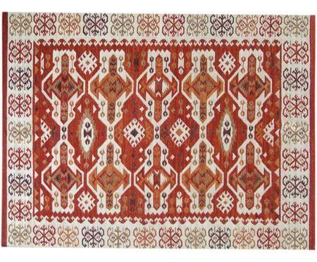 Handgeweven Kelim vloerkleed Ria van wol