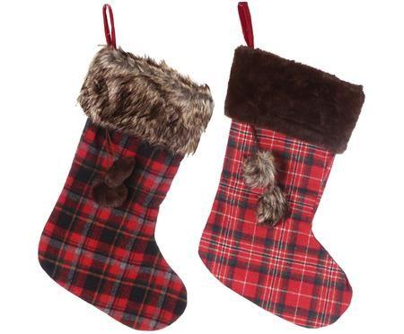Set de calcetines navideños Escocés, 2 pzas.