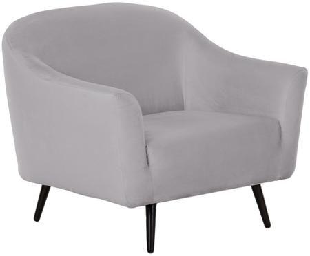 Fotel z aksamitu Musica