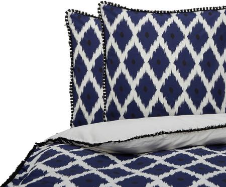 Parure de lit réversible en coton Santorini