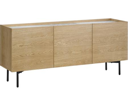Eichenholz-Sideboard Carare mit Marmorplatte