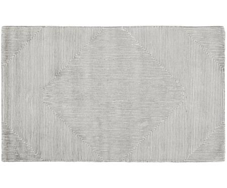 Pequeña alfombra artesanal de viscosa Mia