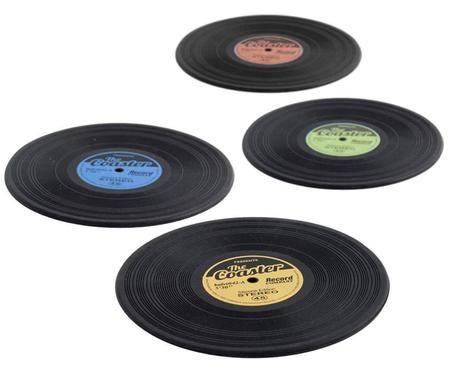 Set de posavasos Vinyl, 4pzas.