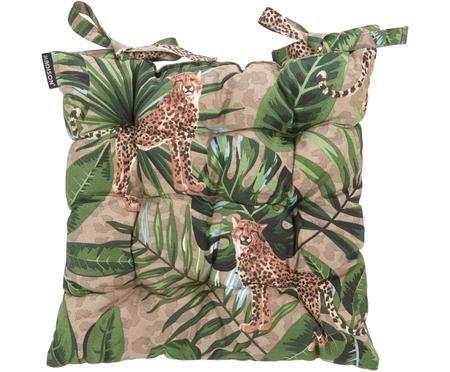 Sitzkissen Lenny mit tropischem Print