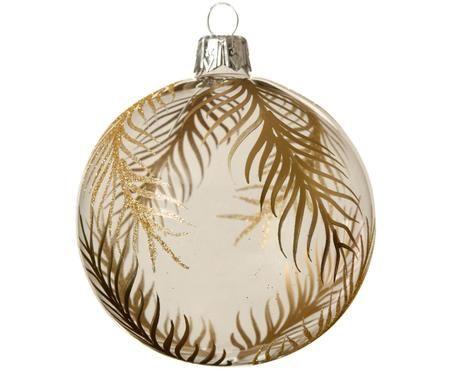 Bolas de Navidad Gold Leaves, 2uds.