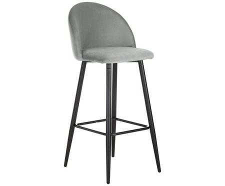 Tabouret de bar en velours  Amy