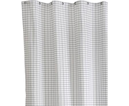 Petit rideau de douche en coton bicolore Tile