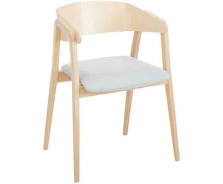 Chaise à accoudoirs Klara en bois de hêtre