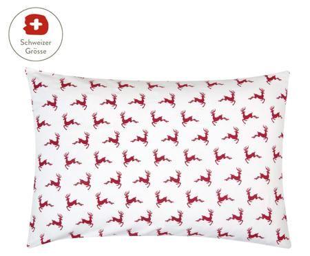 Flanell-Kissenbezug Rudolph mit Rentieren