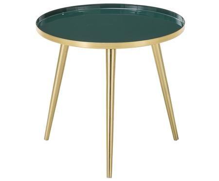 Okrągły stolik pomocniczy emaliowany Amalia