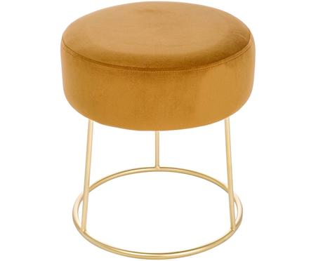 Okrągły stołek z aksamitu Clarissa