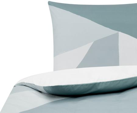 Perkal-Bettwäsche Colorblock mit geometrischem Muster