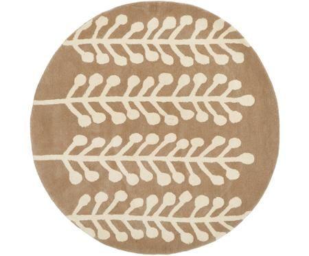 Runder Wollteppich Wool Herbs
