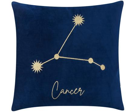 Samt-Kissenhülle Zodiac mit besticktem Sternzeichen (Varianten)