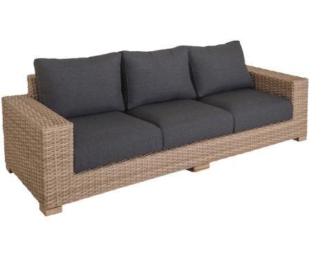 Garten-Loungesofa Saba aus Polyratten (3-Sitzer)