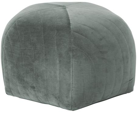 Pouf en velours Alicia