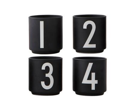 Set de tazas de café 1234, 4pzas.