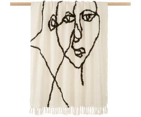 Plaid Face mit abstrakter Zeichnung