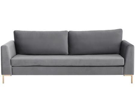 Samt-Sofa Luna (3-Sitzer)