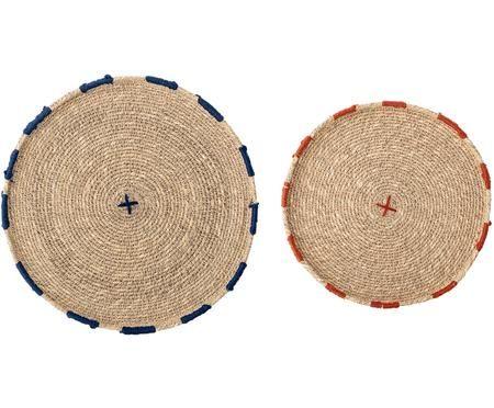 Okrągła podkładka z trawy morskiej  Deco, 2 elem.
