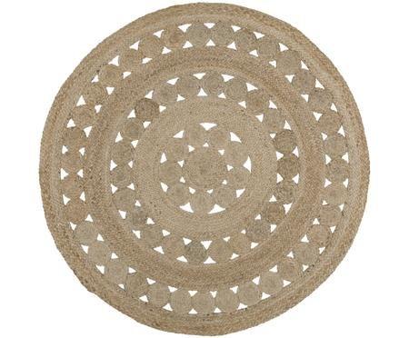 Okrągły ręcznie tkany dywan z juty  Shyam
