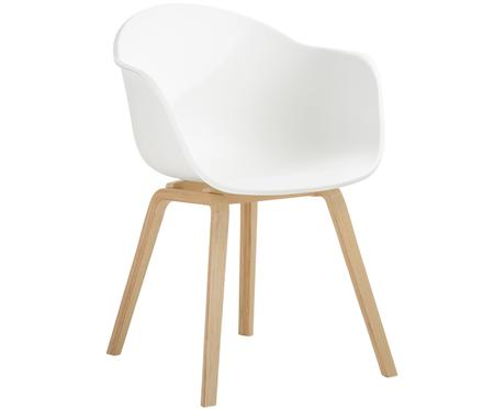 Sedia con braccioli con gambe in legno Claire