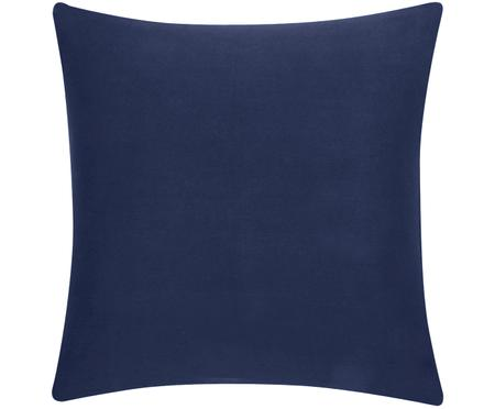 Housse de coussin en coton bleu marine Mads