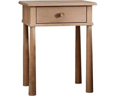 Comodino in legno di quercia Wycombe