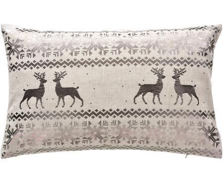 Kissenhülle Lodge mit glänzendem winterlichem Muster