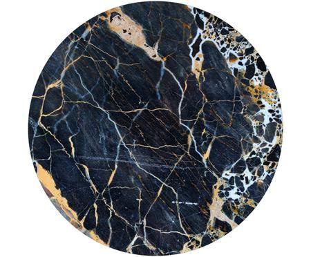 Wandbild Black Marble, rund