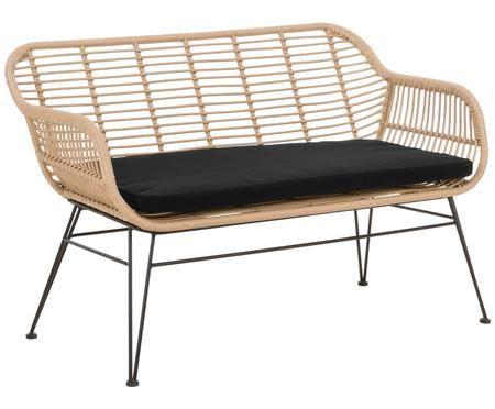 Garten-Sitzbank Costa mit Kunststoff-Geflecht