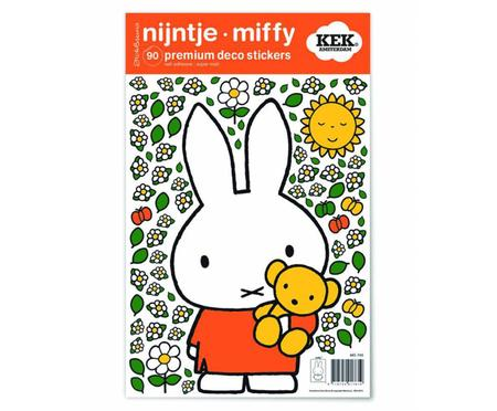 Wandaufkleber-Set Miffy with Little Bear, 90-tlg.