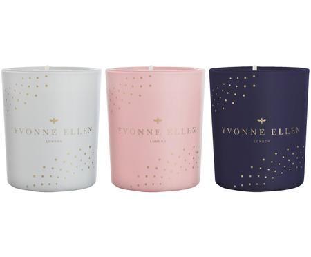 Set candele profumate Yvonne Ellen (fico e agrumi), 3 pz.