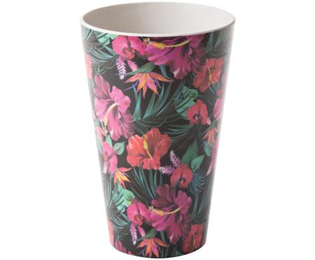 Tazza senza manico in bambù Tropical Flower