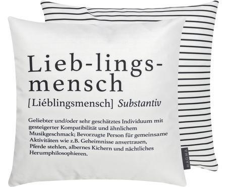 Wendekissen Wordart, mit Inlett