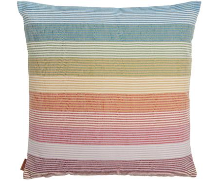 Coussin à rayures multicolores design Wiler
