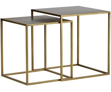 Komplet stolików pomocniczych z metalu Ziva, 2 elem.