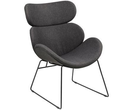 Fauteuil lounge moderne gris foncé Cazar
