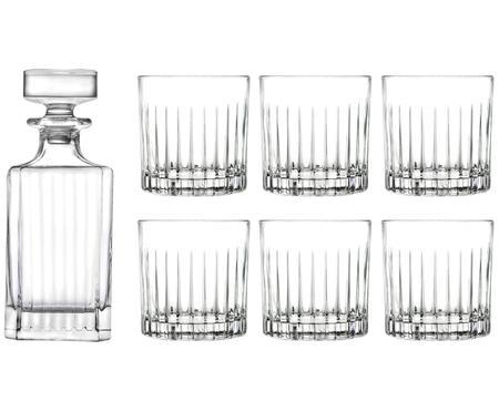 Kristall-Whiskey-Set Timeless, 7-tlg.