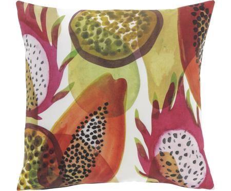 Kussenhoes Dikeledi met kleurrijke print in aquarel look