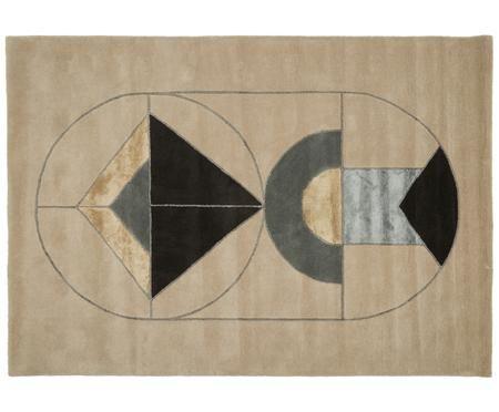 Handgetufteter Designteppich Suay aus Wolle