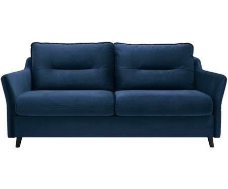 Sofa rozkładana z aksamitu Loft (3-osobowa)
