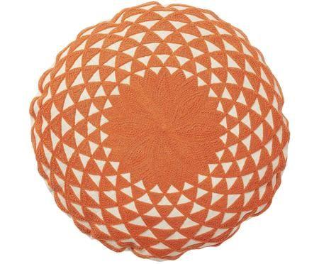 Okrągła haftowana poduszka z wypełnieniem Zappa