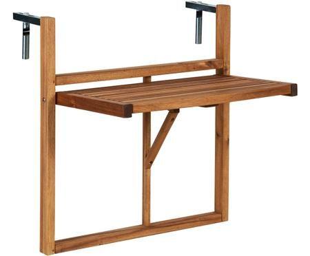 Table rabattable de balcon en bois Lodge