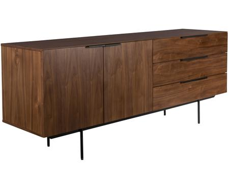Dressoir Travis met notenhoutfineer in retro design