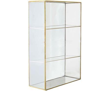Półka ścienna ze szkła z drzwiczkami Lia