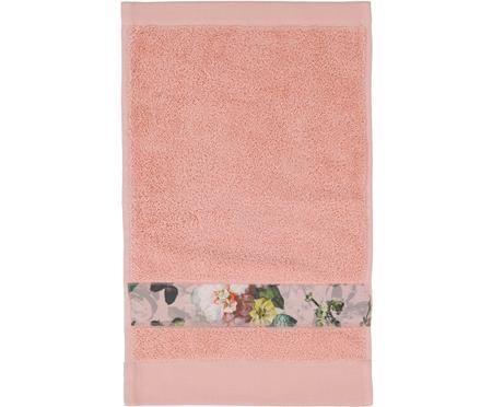 Handdoek Fleur met bloemenrand