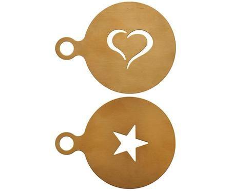 Set stencil per cappuccino Gold, 2 pz.